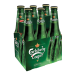 Bottle of Carlsberg beer available on all private jets catered by JetMenus Ireland