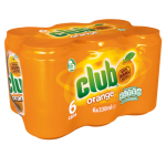 Club Orange soft drink available on private jets catered by JetMenus