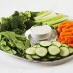 Platter of crudités (raw vegetables) provided by JetMenus private and corporate jet caterers Ireland