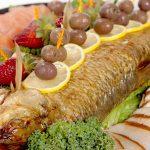 fish platter jetmenus private jet catering