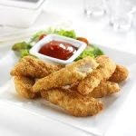 chicken goujons in jetmenus finger food private jet menu