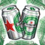 Cans of Henieken lager available on all private jets catered by JetMenus Ireland