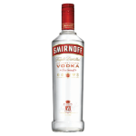 Smirnoff vodka red label supplied by JetMenus private jet caterers Ireland