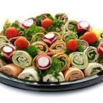 Platter of wraps provided by JetMenus private and corporate jet caterers Ireland